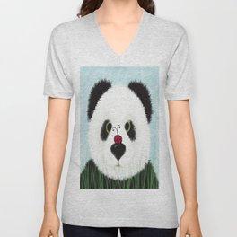 The Panda Bear & His Visitor Unisex V-Neck