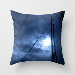 sunset and sailing Throw Pillow