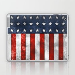 American Flag Stars and Stripes Distressed Grunge 4th. July Laptop & iPad Skin