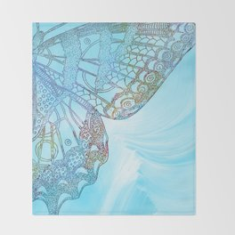 Colorful Abstract Butterfly Design Throw Blanket