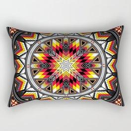 Sacred Places Red Rectangular Pillow