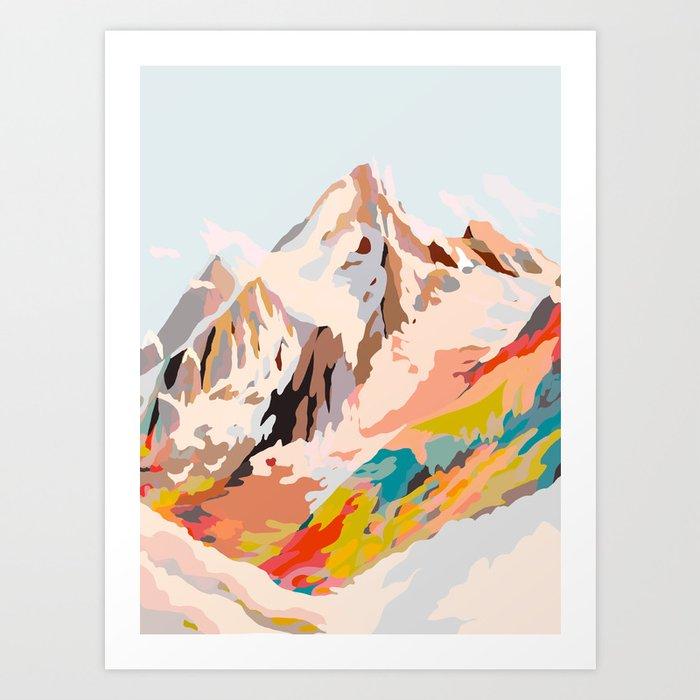 glass mountains Kunstdrucke