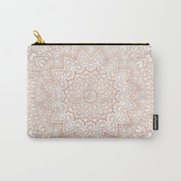 Mandala - rose gold and white marble 3 Carry-All Pouch
