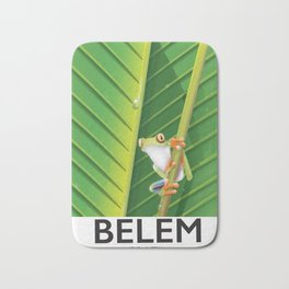 Belem Brazil travel poster Bath Mat