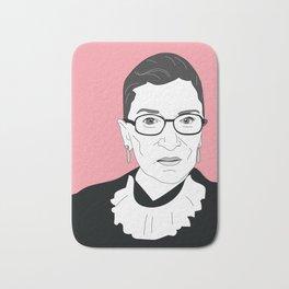 Ruth Bader Ginsburg, pink Bath Mat