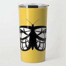 Les Papillons (Yellow) Travel Mug