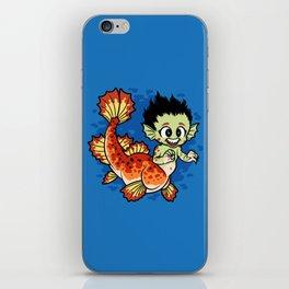 Crimson Pond Dragon iPhone Skin