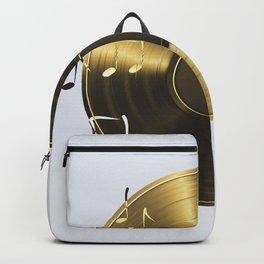 Gold LP Vinyl Record Backpack