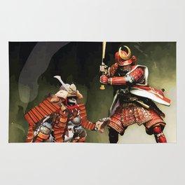 Samurai Warriors Baseball Furies Rug