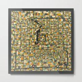 Beijing Map Metal Print