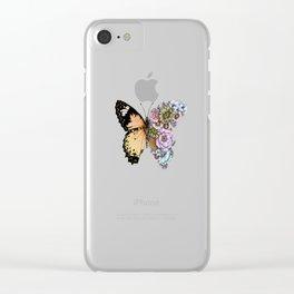 Butterfly in Bloom II Clear iPhone Case