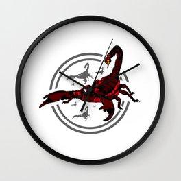 Red Scorpion 2 Wall Clock