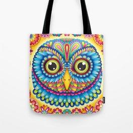 Tropicalia Owl Art Tote Bag