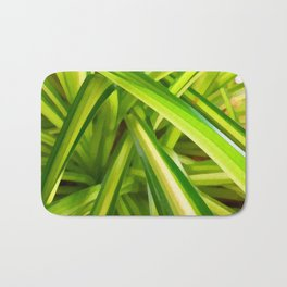 Spider Plant Leaves Bath Mat