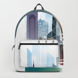 The city skyline of Hong Kong Backpack