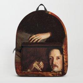 Vintage Painting of Robert Louis Stevenson (1887) Backpack