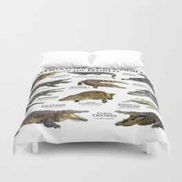 Alligators and Crocodiles of the World Duvet Cover
