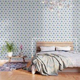 Bue and gren succulents pattern Wallpaper