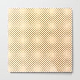 Radiant Yellow Polka Dots Metal Print