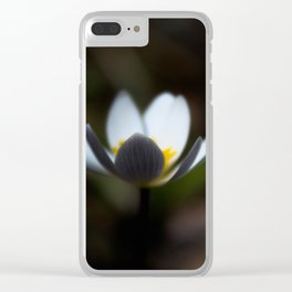 Blurred Mayflower Clear iPhone Case
