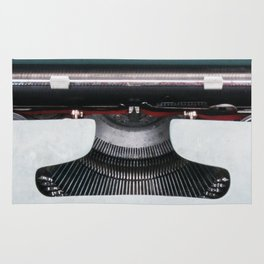 Olivetti Typewriter Lettera 22 Rug