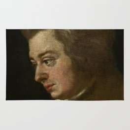 Wolfgang Amadeus Mozart (1756 -1791) by Joseph Lange Rug