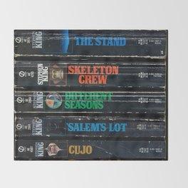 Stephen King Well-Worn Paperbacks Throw Blanket
