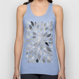 Watercolor brush strokes - black and white Unisex Tank Top