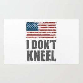 I don't Kneel MAGA Grunge USA Flag Patriot veterans Rug