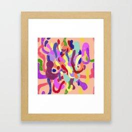 Color Pattern Framed Art Print