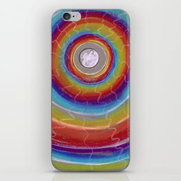 Rainbow Moon Vibrations iPhone Skin
