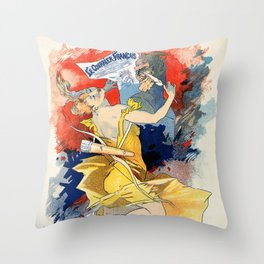 Le courrier français 1891 Throw Pillow