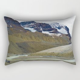 Athabasca Glacier in the Columbia Icefields, Jasper National Park Rectangular Pillow