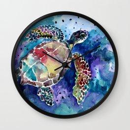 Sea Turtle underwater Wall Clock
