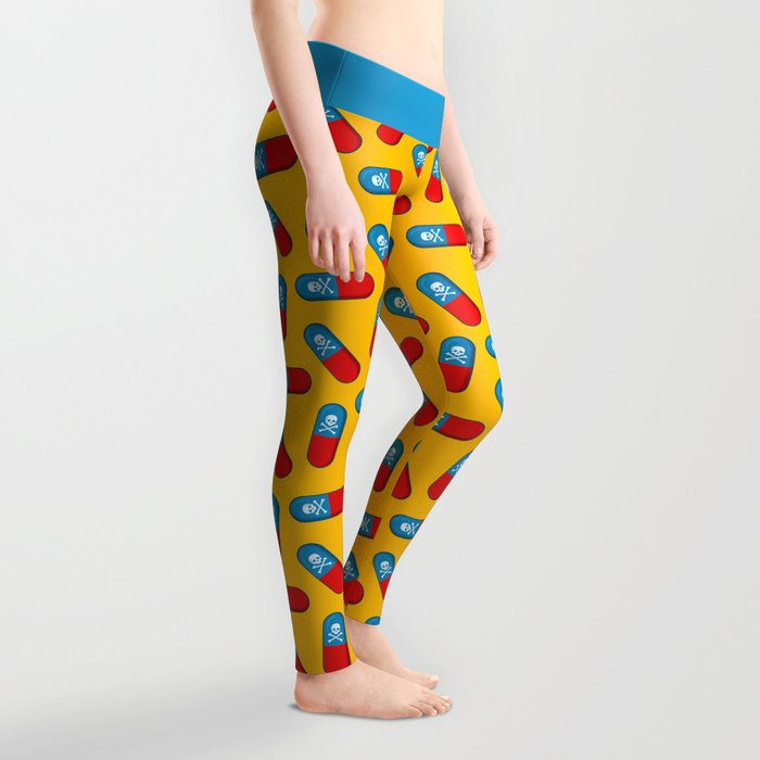 Deadly but Colorful. Pills Pattern Leggings