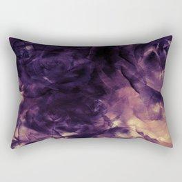 Vintage Deep Purple Bouquet of Roses & Cloulds Rectangular Pillow