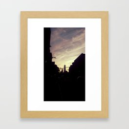 freedom tower sunset Framed Art Print