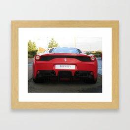 Ferrari 458 Speciale Framed Art Print