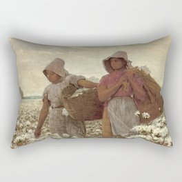 The Cotton Pickers by Winslow Homer, 1876 Rectangular Pillow