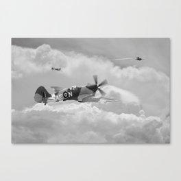 Spitfire XIV, V-1 Hunter - Mono Canvas Print