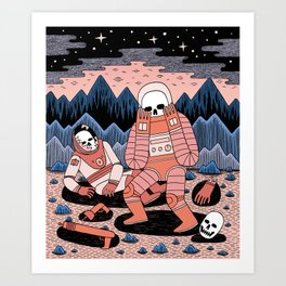 Death in Space II Art Print