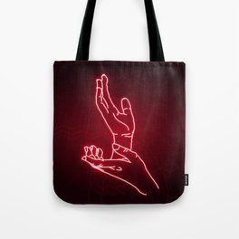 Red Neon Meanwhile Tote Bag