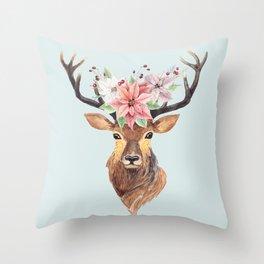 Winter Deer 2 Throw Pillow