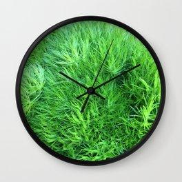 Dianthus Green Trick Wall Clock
