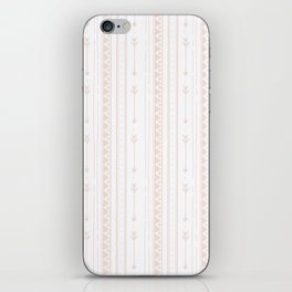 Pastel brown white bohemian arrows zigzag geometrical iPhone Skin