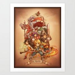 Final Fantasy IX Art Print