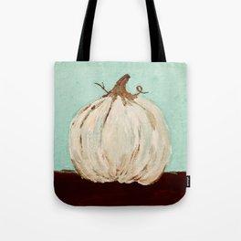 the white pumpkin Tote Bag