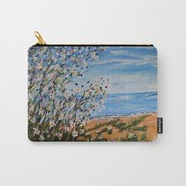 Beach Daisies, Landscape Floral Art Carry-All Pouch