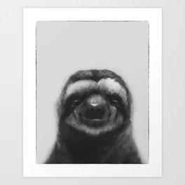 Sloth #1 (B&W) Art Print