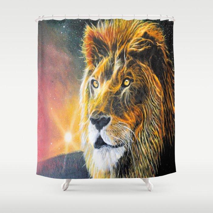 Star Lion Shower Curtain
